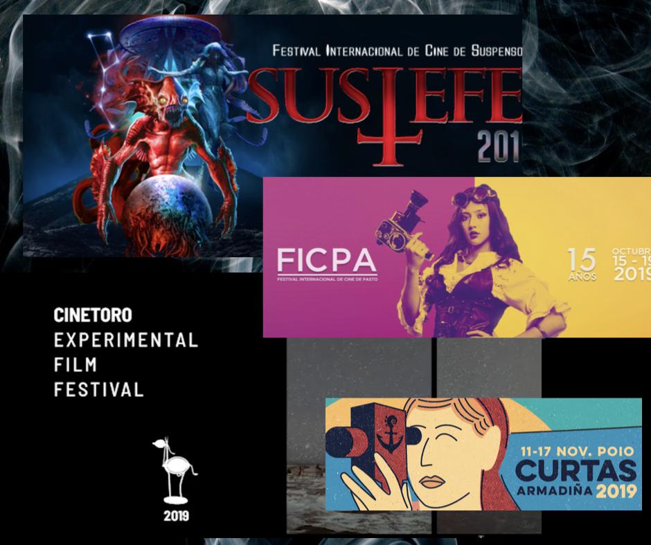 Carteles de principales festivales de cine 2019 en los que participa Homomaquia