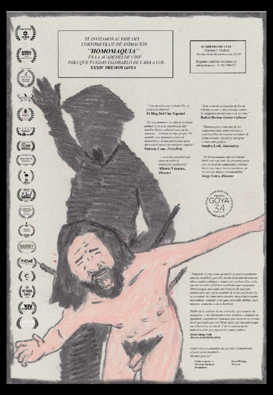 Cartel del Pase en la Academia de Cine Madrid
